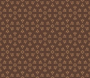 Snowflakes background 13. Seamless vector pattern of geometric elements on brown background. It can be used for scrapbooking, textile and clothes printing, web Royalty Free Stock Images