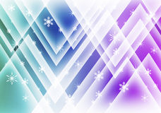 Snowflakes background. Shiny lines shapes Stock Images