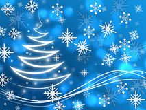 Snowflakes Background Shows Zigzag Winter And Freezing. Snowflakes Background Showing Zigzag Winter And Freezing Royalty Free Stock Images