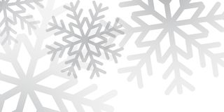 Snowflakes background snow design. Christmas winter background. Christmas snowflakes. White and silver snow elegant Christmas background. Happy New Year card Royalty Free Stock Photography