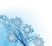 Snowflakes_background_soft Photo libre de droits