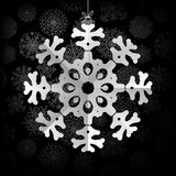Snowflakes background with space for text.  + EPS8. Vector file Stock Illustration
