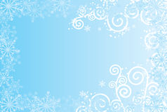 Snowflakes background, vector Stock Photos