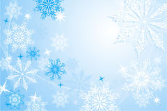 Snowflakes background, vector Stock Photography