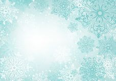 Snowflakes background. White winter light Stock Images