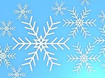 Snowflakes background winter Stock Photo