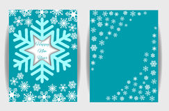 Snowflakes background for winter and new year, christmas theme. Royalty Free Stock Photography