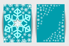 Snowflakes background for winter and new year, christmas theme. Stock Photo