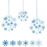 Snowflakes balls Stock Images