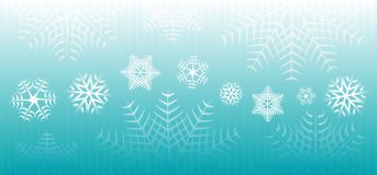 Snowflakes banner Stock Images