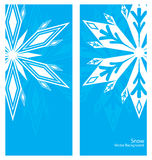 Snowflakes Banner Background Royalty Free Stock Image