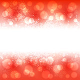 Snowflakes banner on red background Royalty Free Stock Photos