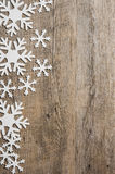 Snowflakes banner Royalty Free Stock Image