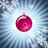 Snowflakes & bauble Stock Images