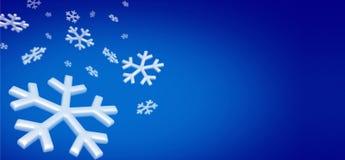 Snowflakes bg Stock Image