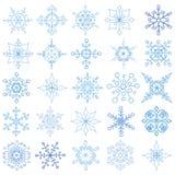 Snowflakes big set.Christmas,New year Stock Images