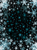 Snowflakes on Black Stock Photography