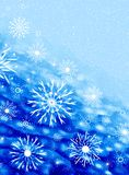 Snowflakes on blue vector illustration