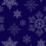 Snowflakes_blue Imagem de Stock