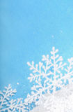 Snowflakes on blue Royalty Free Stock Photo