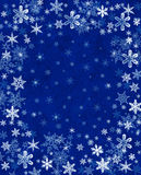 Snowflakes on Blue Stock Photo