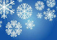 Snowflakes blue Stock Photography
