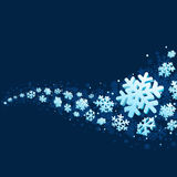 Snowflakes on Blue Background Stock Image