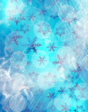 Snowflakes blue background Stock Images