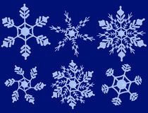 Snowflakes on a blue background Royalty Free Stock Photo