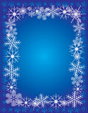 Snowflakes On A Blue Background Royalty Free Stock Image