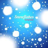 Snowflakes Blue Background Royalty Free Stock Image