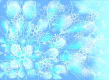 Snowflakes on a blue background. EPS10 vector Stock Photography