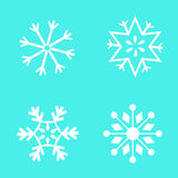 Snowflakes on a blue background. Image Stock Image