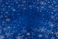 Snowflakes. A blue background, with snowflakes. Room for copy Stock Photo