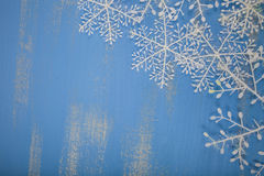 Snowflakes on a blue background Stock Photography