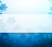 Snowflakes blue illustration design Royalty Free Stock Photo