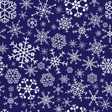 Snowflakes blue pattern eps10 Royalty Free Stock Image