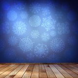 Snowflakes in blue room. EPS 10 Stock Images