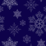 Snowflakes_blue. Blue seamless pattern with snowflakes Stock Image