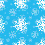 Snowflakes on blue sky Royalty Free Stock Photography
