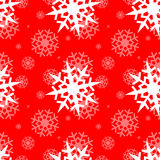 Snowflakes on blue sky Royalty Free Stock Photo