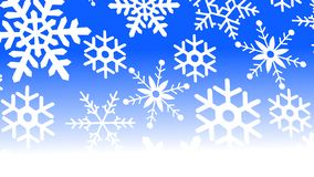Snowflakes on blue and white gradient background. Can be used as background or wallpaper or for other possibilities or to modify to your taste royalty free illustration