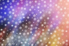 Snowflakes on a blurry colored background. Festive. Christmas. New Year Stock Photography