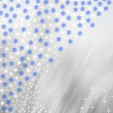 Snowflakes on a blurry colored background. Festive. Christmas. New Year Stock Photos