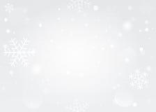 Snowflakes bokeh background vector EPS 10. Royalty Free Stock Photos
