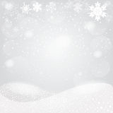 Snowflakes bokeh background. Vector EPS 10. Royalty Free Stock Photo