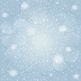 Snowflakes bokeh background. Vector EPS 10. Royalty Free Stock Photography