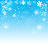Snowflakes bokeh background. Vector EPS 10. Stock Image