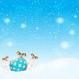 Snowflakes bokeh background. Vector EPS 10. Royalty Free Stock Image