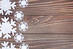 Snowflakes border Stock Image